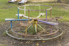 Dilapidated playground Stock Photos