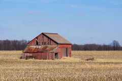 Dilapidated Red Barn Stock Images