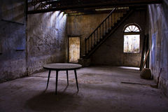 Dilapidated room. An abandoned and dilapidated room in Ipoh, Malaysia Royalty Free Stock Image