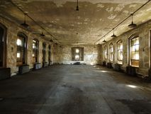Dilapidated Room. A room waiting for renovation at historic Ellis Island National Park Royalty Free Stock Images