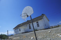 Dilapidated school on an Indian reservation. Nixon, NV Royalty Free Stock Image