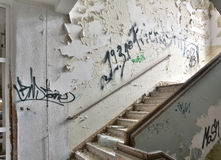 A dilapidated staircase Royalty Free Stock Images