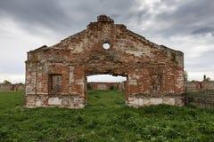 Dilapidated stud farm. 19th century Stock Photos