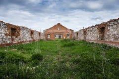 Dilapidated stud farm. 19th century Royalty Free Stock Photo