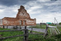 Dilapidated stud farm. 19th century Royalty Free Stock Images