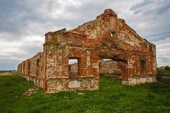 Dilapidated stud farm 19th century Stock Image