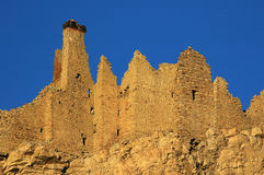 The dilapidated tibetan Castle Royalty Free Stock Photography