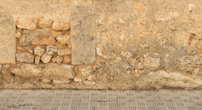 Dilapidated wall detail view Royalty Free Stock Image