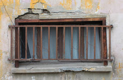 Delapidated Window in Istanbul Stock Photos