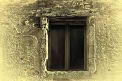 Dilapidated Window Stock Image