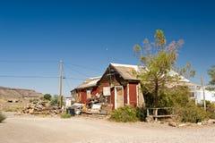 Dilapidated woestijnbouw royalty-vrije stock foto's