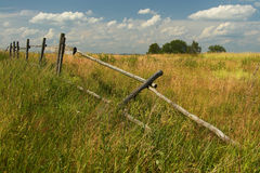 Dilapidated wooden fence Royalty Free Stock Images