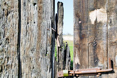 Dilapidated wooden gate Stock Images
