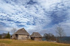Dilapidated wooden houses Stock Image