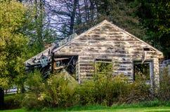 Dilapidation. A delipadated old bungalow on the morning light near Hanoverton, Ohio, USA stock photography
