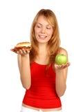 Dilema de la dieta Fotografía de archivo libre de regalías