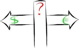 Dilema di senso illustrazione vettoriale