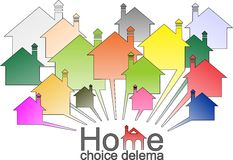 Dilema housing selection Stock Photography
