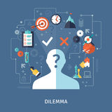 Dilemma Concept Illustration Royalty Free Stock Photo