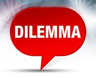 Dilemma Red Bubble Background vector illustration