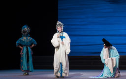 """In a dilemma-The seventh act Disintegration of families-Kunqu Opera""""Madame White Snake"""". Legend of the White Snake is one of the most famous tales spreading Stock Photos"""