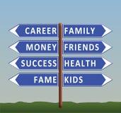 Dilemma van het leven: carrière of familie Royalty-vrije Stock Afbeeldingen