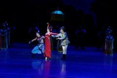 dilemma-vier handeling ` belemmerde inklaring ` - Epische de Zijdeprinses ` van het dansdrama ` royalty-vrije stock foto's