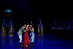 dilemma-vier handeling ` belemmerde inklaring ` - Epische de Zijdeprinses ` van het dansdrama ` stock fotografie