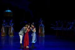 dilemma-vier handeling ` belemmerde inklaring ` - Epische de Zijdeprinses ` van het dansdrama ` royalty-vrije stock fotografie