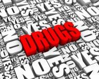 Dilemme de drogue Photo libre de droits