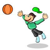 Dilettante di pallacanestro illustrazione vettoriale