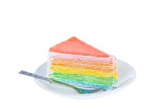 dilicious蛋糕片断,隔绝在白色背景 免版税库存照片
