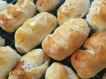 Dilicious baked homemade buns Stock Photos