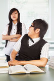 Diligent and bad students Stock Photography