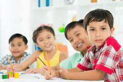 Diligent classmates Royalty Free Stock Images