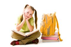 Diligent girl Royalty Free Stock Photography