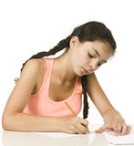 Diligent girl Stock Photography
