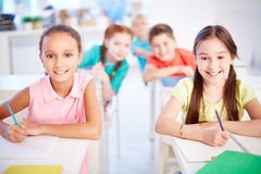 Diligent learners Stock Image