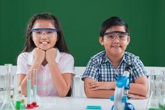 Diligent preschool students Royalty Free Stock Photos