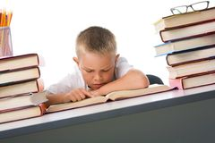 Diligent pupil Royalty Free Stock Photo