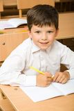Diligent pupil Stock Photo