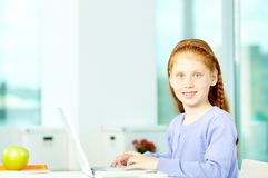 Diligent pupil Royalty Free Stock Photography