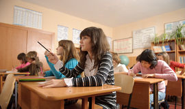 Diligent pupils Royalty Free Stock Photo