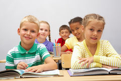 Diligent pupils Stock Photo