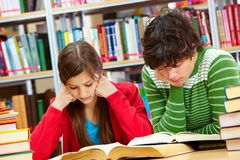 Diligent pupils Royalty Free Stock Photos