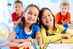 Diligent pupils Stock Images