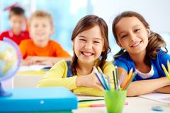 Diligent pupils Royalty Free Stock Image