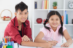 Diligent pupils Stock Photo