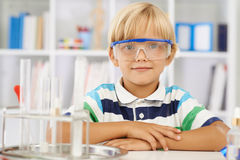 Diligent schoolboy Royalty Free Stock Photography