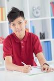 Diligent schoolboy Stock Image